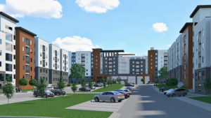 Park West Texas A&M Student Housing Rendering