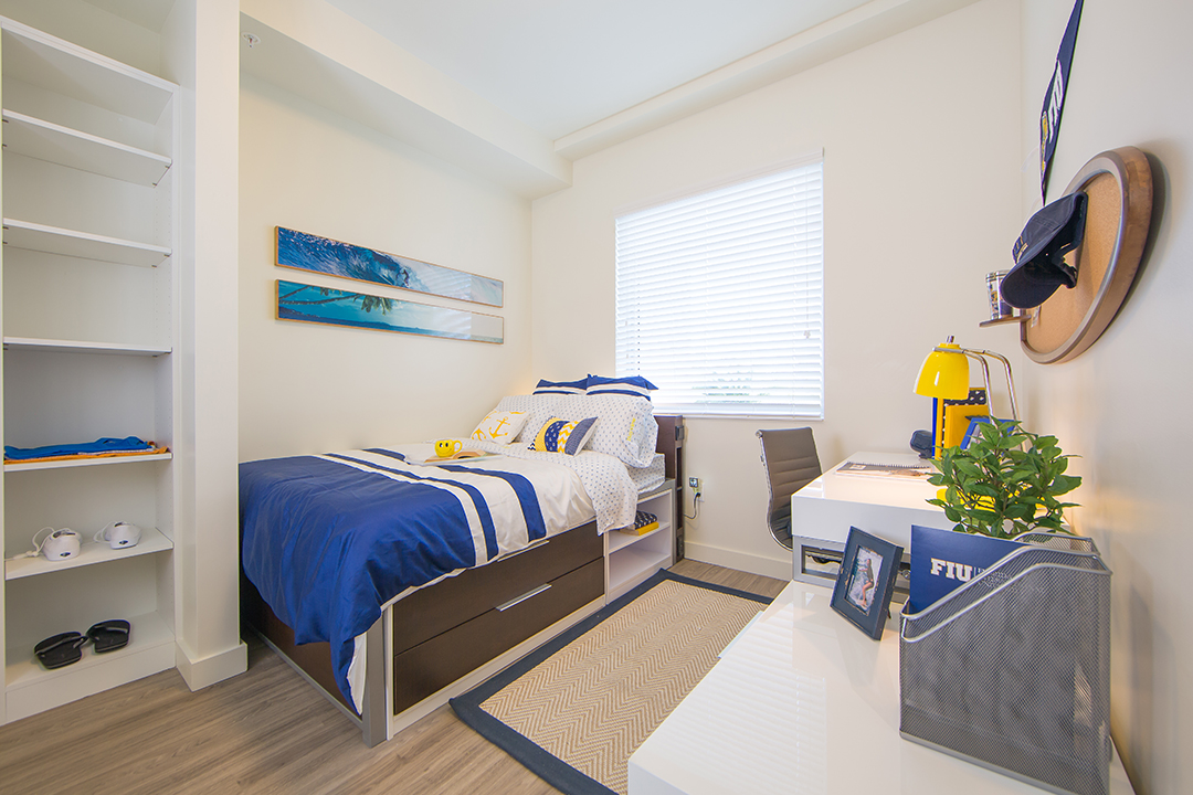 FIU Housing Model Bedroom