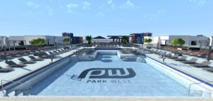 Amenity Deck Rendering of Park West at Texas A&M University