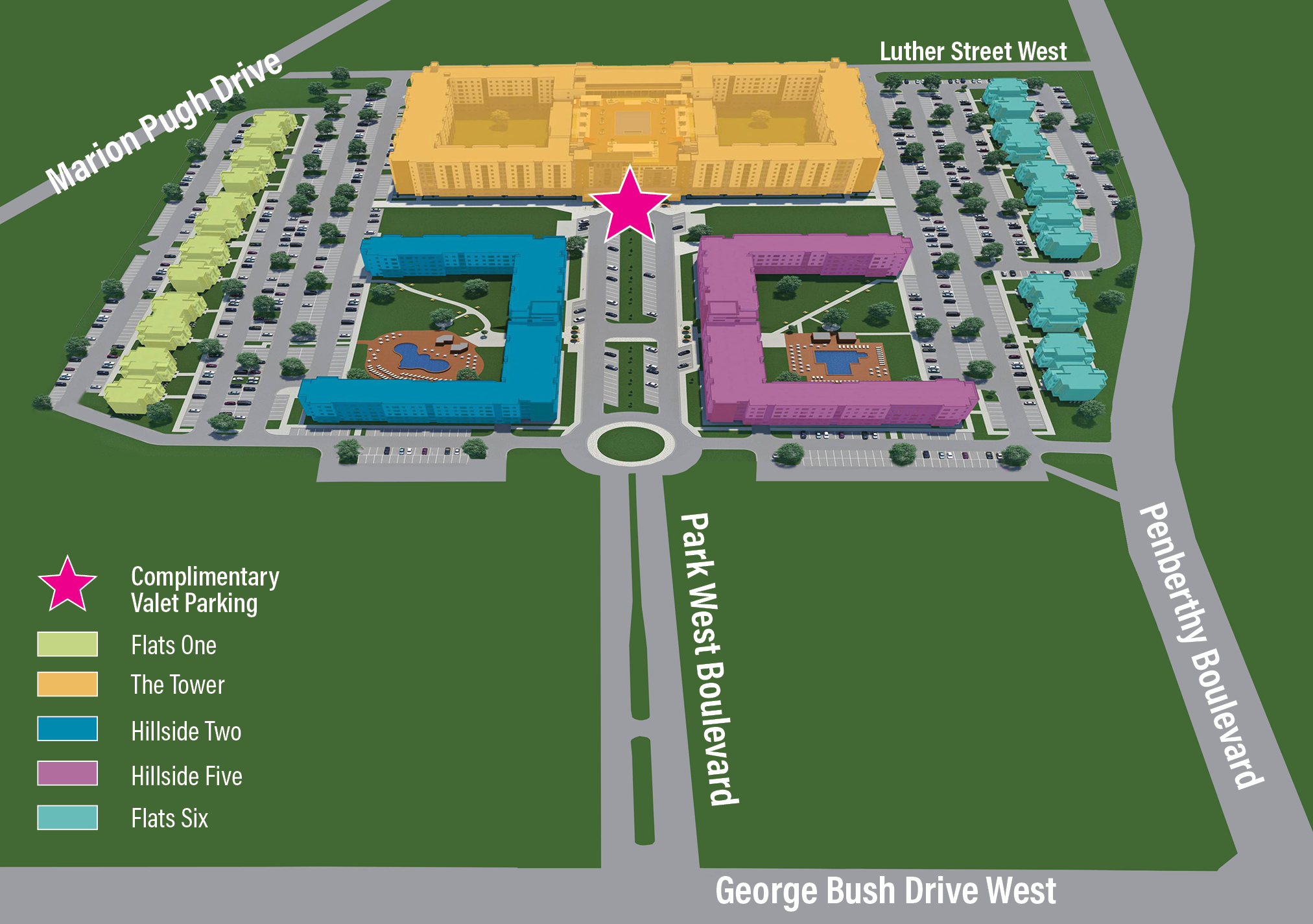 Park West Grand Opening Site Plan