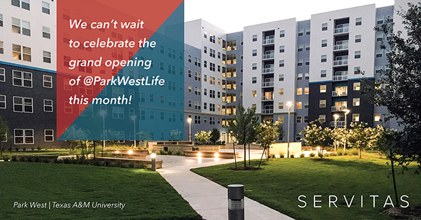 We can't wait to celebrate the grand opening of Park West this month!
