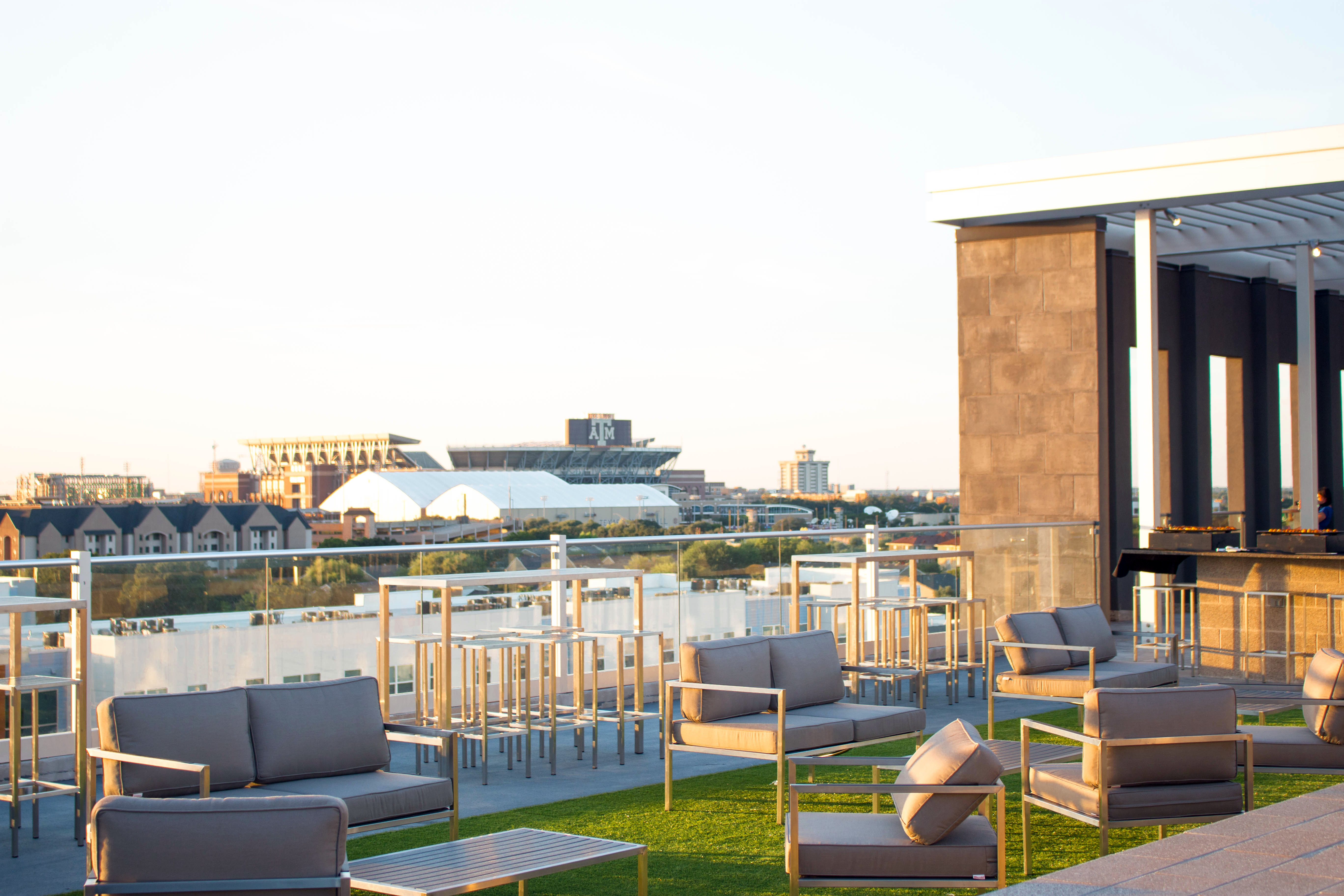 Park West Grand Opening Kyle Field Amenity Deck View