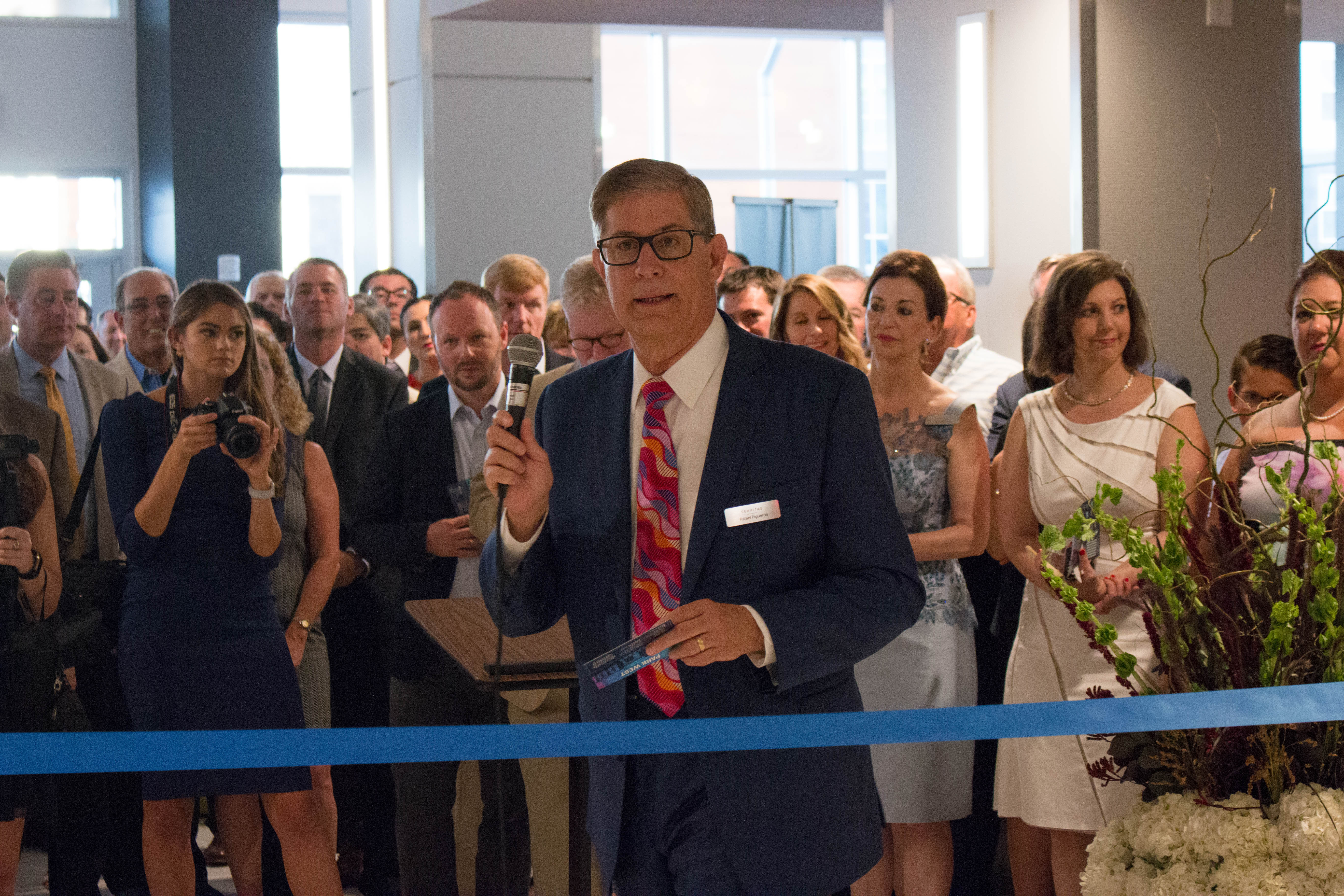 Rafael Figueroa CEO of Servitas Student Housing Developer at Park West grand opening ribbon cutting