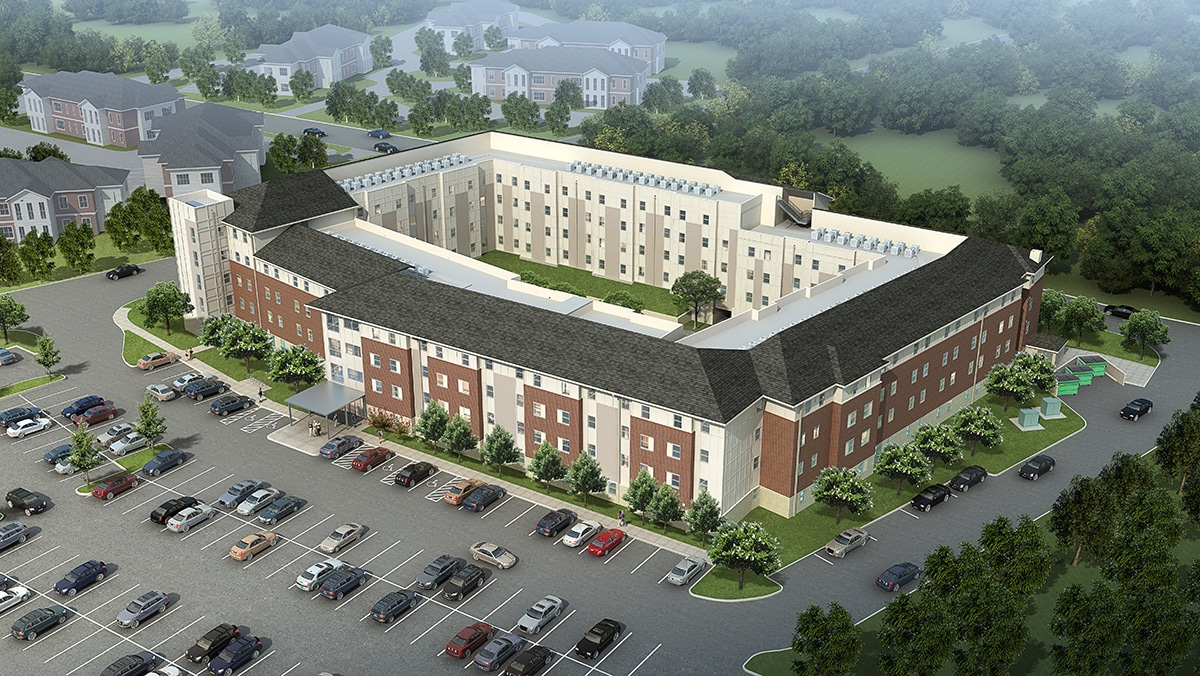 Mill Creek Hall Aerial Rendering