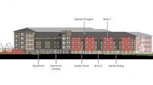 Blinn College Residence Hall Elevation 1