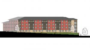 Blinn College Residence Hall Elevation 4