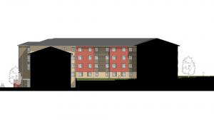Blinn College Residence Hall Elevation 5