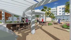 Poolside-BBQ-Rendering-1 TAMU-Student-Housing